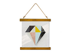 Wall Hanging Canvas Shade or Boundary - Dan Johannson XMPDJ016