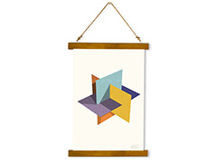 Wall Hanging Canvas Sketch of Impossible Contrast - Dan Johannson XMPDJ071